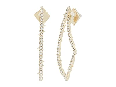 Alexis Bittar Crystal Encrusted Abstract Thorn Post Earrings (Clear Crystal) Earring