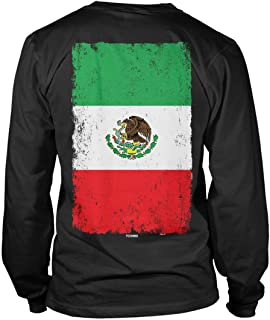 Distressed Mexico Flag - Mexican Eagle Latino Unisex Long Sleeve Shirt
