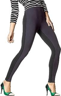 S XL Hue Women/'s Leggings High Waist Illusion Ponte Leggings XS M