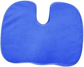 Cojín de silla con forma de U de espuma viscoelástica Coxis Cojín ortopédico Lumbar Almohada Alivio del dolor para aliviar la espalda, el dolor de ciática Coche de oficina(Azul)