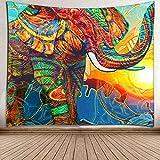 WERT Tarot Sol y Luna Patrón Manta Tarot Indio Mandala Tapiz Colgante de Pared Bohemia Gypsy Home Dormitorio Decoración Tapiz A7 180x200cm