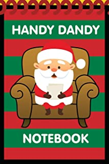 Handy Dandy Notebook: Christmas Santa Style - Kids little 6x9 inch notebook for drawing and detective clues with 120 sheets
