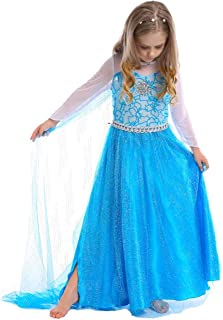 Lancenix Princess Costumes Birthday Party Dress Up for Little Girls Age 2-12 Years