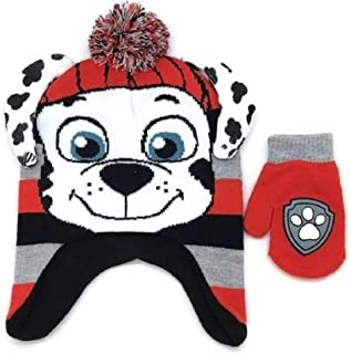 Boys' Toddler Paw Patrol Character Scandi Hat and Mittens Set