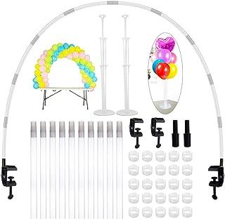 JNCH Kit Arco Globos Estructura + 2 Juegos de Soporte Globos Mesa Arbol Palos Palitos Globos Table Balloons Arch Frame Balloon Stand para Decoraciones Bodas Cumpleaños Fiestas Eventos Graduación