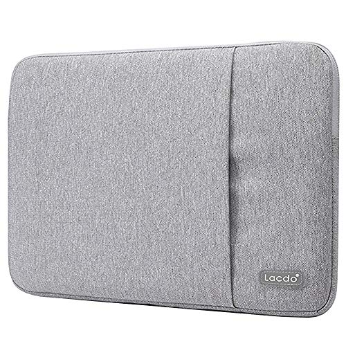 Lacdo 13.3 inch Laptop Sleeve Case for Old 13 inch MacBook Air 2010-2017/13-inch MacBook Pro 2012-2015/13.5 Surface Book 3 2 / Asus Zenbook, Jumper HP Dell Acer Lenovo Chromebook Computer Bag, Gray