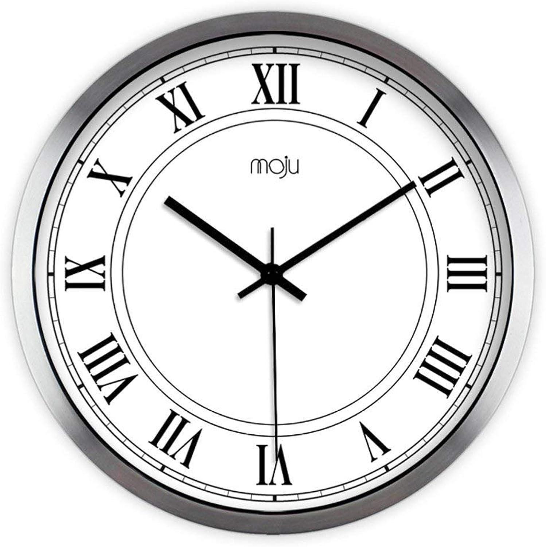 Grte Wall Clock Decorative Digital Creative Continental Simple Wall Maps Wall Clocks Calm House Alarm Clock Quartz-C 14Po
