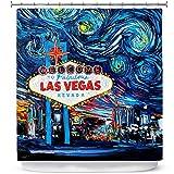 Cuarto de baño ducha cortinas por Aja Ann–Van Gogh nunca sierra las Vegas