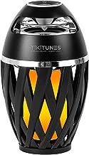 TikiTunes Portable Bluetooth 5.0 Indoor/Outdoor Wireless Speaker, LED Torch Atmospheric Lighting Effect, 5-Watt Audio USB Speaker, 2000 mAh Battery for iPhone/iPad/Android