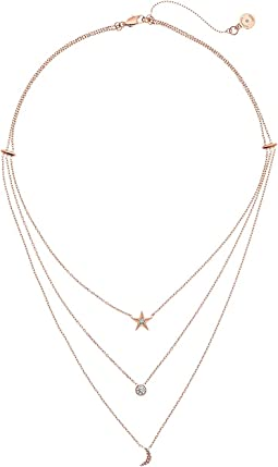 Brilliant Celestial Layered Chain Necklace