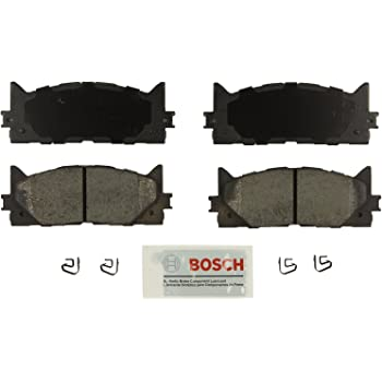 Bosch BE1293 Blue Disc Brake Pad Set for Lexus: 2013-15 ES300h, 2007-15 ES350; Toyota: 2008-15 Avalon, 2007-15 Camry - FRONT