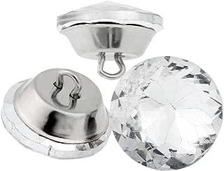 Mgoodoo 10pcs Diamond Crystal Upholstery Sofa Headboard Sew Buttons Wall Decor 20mm Dia