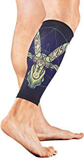 Zodiac Sign Capricorn Calf Compression Sleeve Leg Compression Socks For Shin Splint Calf Pain Relief Men Women And Runners Improves Circulation Recovery