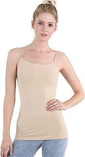 Women Seamless Premium Classic Camisole, Made in U.S.A, One Size
