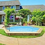 Piscina in legno ANTIGUA 1 355x307x116 cm legno nordico piscine giardino arredo