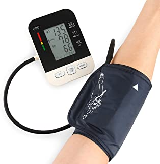 Tensiómetro de Brazo Digital Recargable USB/Función de reloj/Irregularidad del ritmo cardíaco / 2x99x almacenamiento de datos/retroiluminación LCD/Profesionales y usuarios domésticos - blanco
