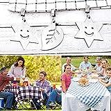 HOSPAOP Tischdeckenbeschwerer 8 Stück, Tischdecke Outdoor Edelstahl, Gewichte Tischdecke mit Klammer, Tischdeckenbeschwerer für Draußen, Haus, Restaurant, Tischdeckenbeschwerer Set. - 5