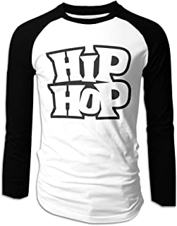 Eyscar Men Logo of Dream-R Hip HOP Dance Cotton Baseball Raglan Long T Shirts