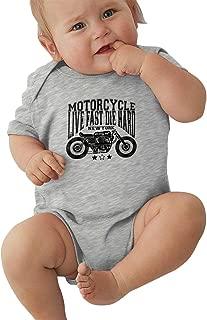 Baby Motorcycle Live Fast Die Hard Creeper Onesies Cotton Black
