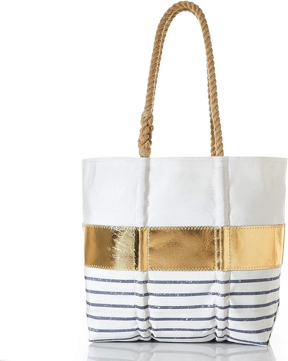 Sea Bags Recycled Sail Cloth Grey Mariner Stripe Tote