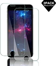 16-4 iPhone 6 Plus / 6s Plus Screen Protector [3-Pack] [Easy Installation Frame] HD 9H Hardness 2.5D Tempered Glass Screen Protectors for 5.5
