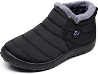 LIGHTEN Womens Snow Boots Black Size: 6/Men