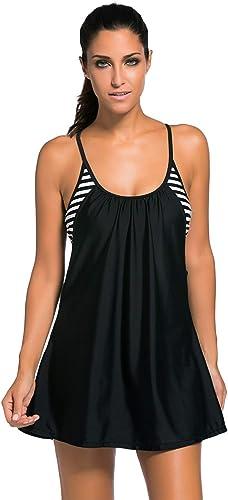 Plongée Maillot de Bain Femme Jupe Grande Taille Mode Style Unique sans Leggings Maillot de Bain Maillot de Bain Jupe Une pièce