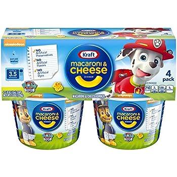 Kraft Paw Patrol Shapes Macaroni & Cheese Dinner, 1.9 oz, 4 Pack