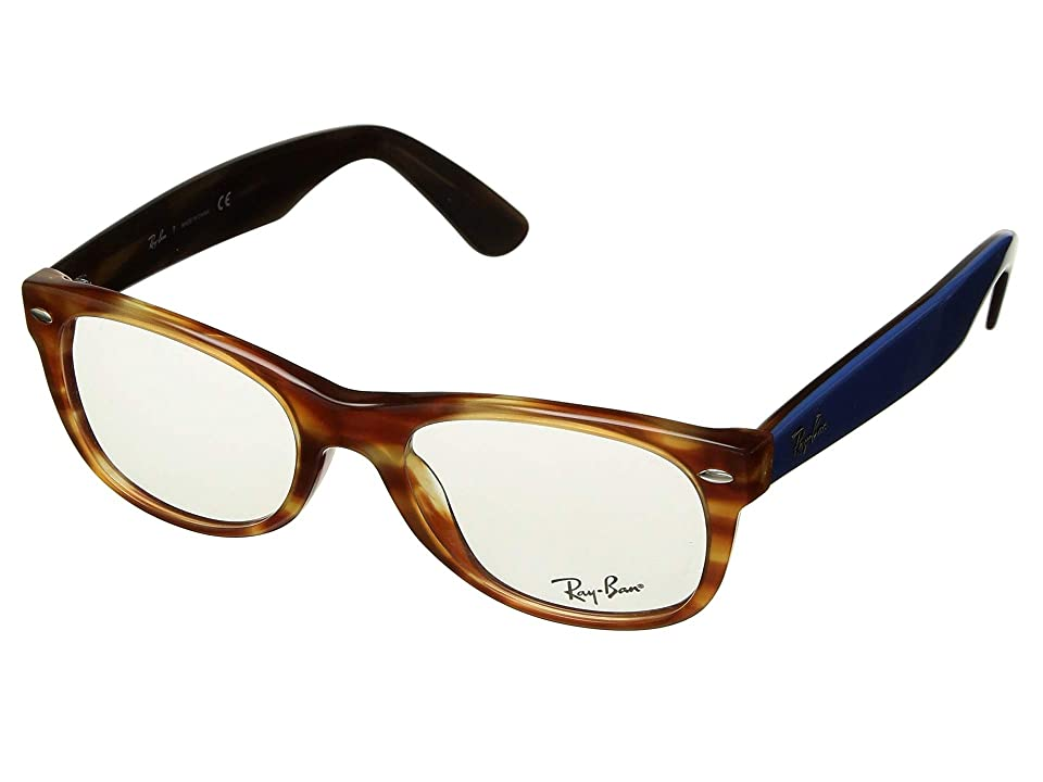Ray-Ban 0RX5184 50mm (Light Brown Havana) Fashion Sunglasses