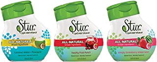Stur - Variety Pack (3 Pack) - All-Natural Stevia Extract Water Enhancer