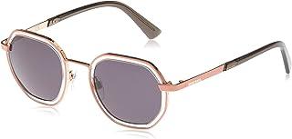 نظارة شمسية موديل DL026773A48 للجنسين من ديزل، لون زهري بدون لمعة/ معدني