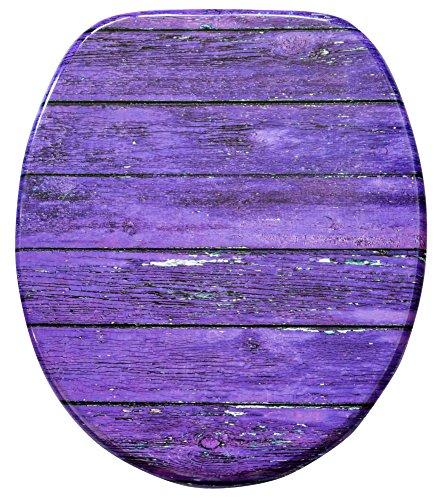 WC Sitz, hochwertige Oberfläche, einfache Montage, stabile Scharniere, Purple Wall