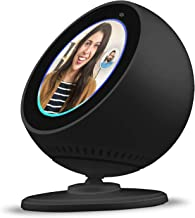 BLUERIN Echo spot Stand, Adjust echo's face up and Down Multi Viewing Angle Adjustment 360 Rotation Bracket Mount with Magnetic Base for Echo Spot (Black)