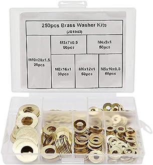 Boeray 4mm 5mm 6mm 7mm 8mm 170pcs White Cable Clip Assortment kits
