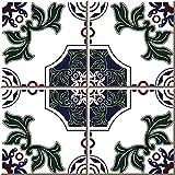 Leyu 25 PCS Bohemian Style Tile Sticker, 6x6...