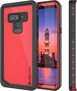 Galaxy Note 9 Waterproof Case, Punkcase [StudStar Series] [Slim Fit] [IP68 Certified] [Shockproof] [Dirtproof] [Snowproof] Armor Cover for Samsung Galaxy Note 9 [RED]
