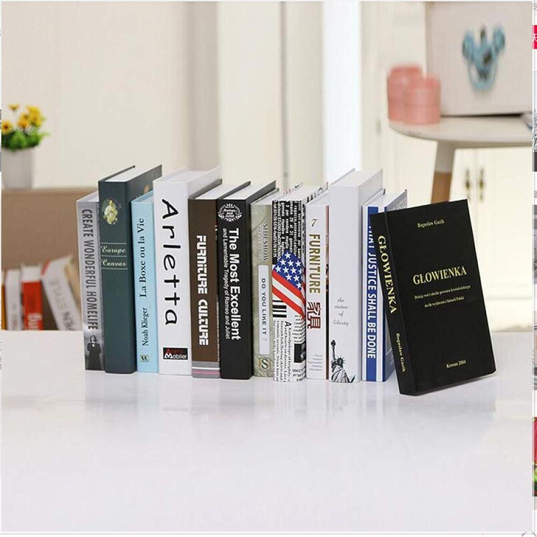 STSJSI Decoración de libros falsos Simulación moderna decoración del libro decoración estantería decoración simple decoración accesorios de estilo falso nórdico gabinete de vino creativo