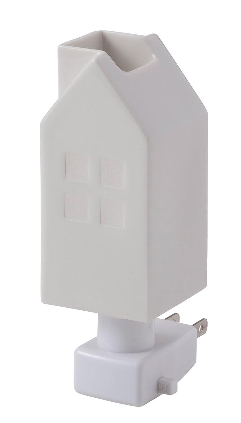 引用リダクタージャムイシグロ デザイン小物 W4.8×D4.8×H13cm ハウスアロマライトコンセント型 ホワイト 20076