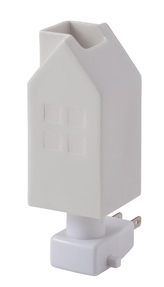 ペニーノート危険イシグロ デザイン小物 ホワイト W4.8×D4.8×H13cm ハウスアロマライトコンセント型 ホワイト 20076