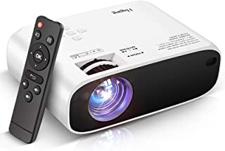 Mini Projector, V504 Portable LCD Video Projector Upgraded 5000 Lux, Full HD 1080P, Compatible with PS4/HDMI/USB/AV/SD/VGA...