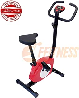 005e5881a21ee7 OFFERTA CYCLETTE MAGNETICA 301 ROSSA FFITNESS HOME TRAINER BICI DA FITNESS  BICI DA CAMERA HOME BIKE