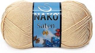 Nako Saten Beige No.219 Crochet and Knitting Yarn