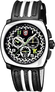 Luminox Black Outdoor Mens Watch Tony Kanaan Limited Edition XL.1143-100 M Water Resistant Stainless Steel Chronograph Antireflective Sapphire Crystal