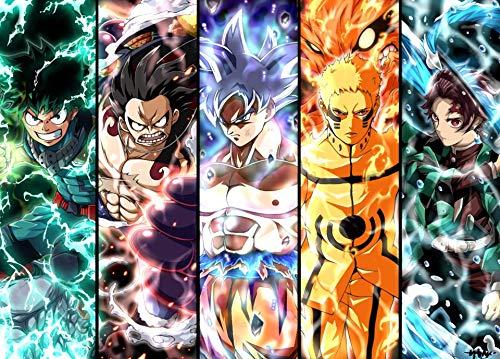 Kopoo Goku Naruto Luffy Ichigo Natsu Anime - Póster de 11 x 17 pulgadas (28 x 43 cm)