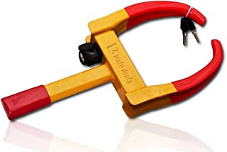 Zento Deals Security Tire Clamp - Heavy Duty Anti- Theft Vehicle Wheel Lock for Car Trailer