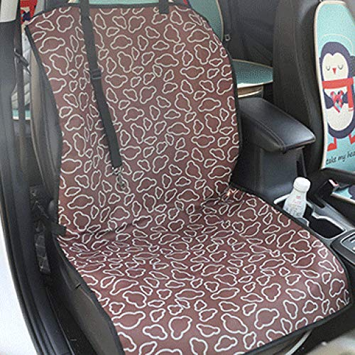 Whinop Car Boot Covers for Dogs Brown Cloud Pattern Dog Car Seat Covers Hammock for Car Front Seat-Can Also Be Used On Back Seat-Free Dog Seatbelt