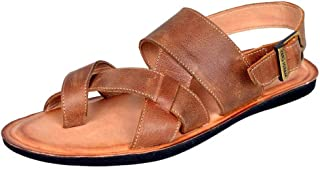 Mardi Gras Men's Leather Outdoor Sandals
