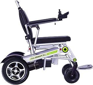Sillas de ruedas eléctricas para adultos Sillas de ruedas eléctricas, Silla de ruedas eléctrica de aleación de aluminio a distancia remota de ruedas de control de ancianos discapacitados choque Cuatro