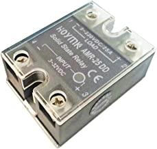 Hoymk DC-DC AMR-10/25/40/50/60/80A/DD Actually 3-32v Dc to 5-220v Dc Amr Single Phase Solid State Relay (AMR-25A)