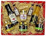 Präsentkorb für Feinschmecker gefüllt IGeschenkkorb für Männer und Frauen I Feinkost-Presentkorb glutenfrei und mediterran